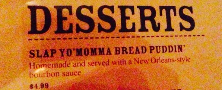 Memphis Dessert Menu