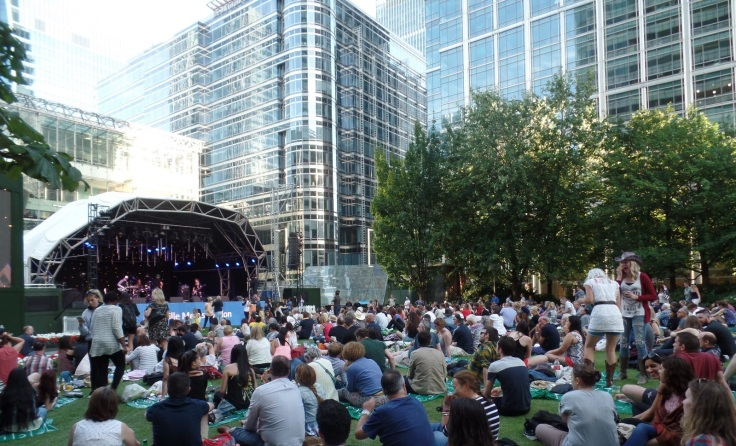 Canary Wharf went Country