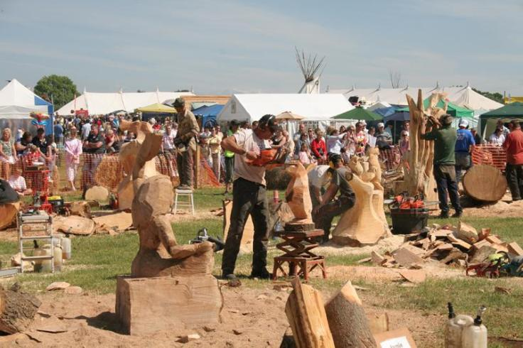 Woodfest carving